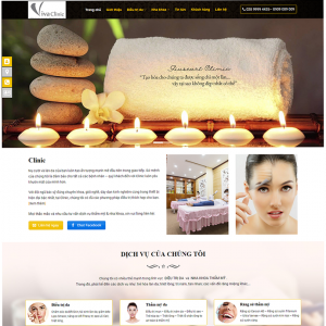 Thiêt kế website Spa tại quảng ngãi
